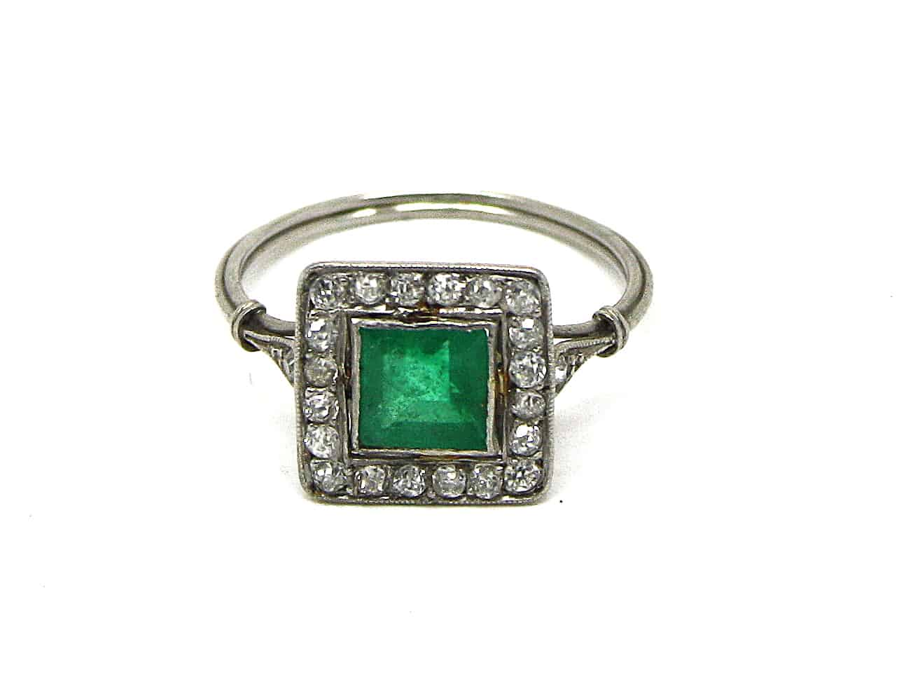 Antique Emerald Ring Kish Jewellers Dublin