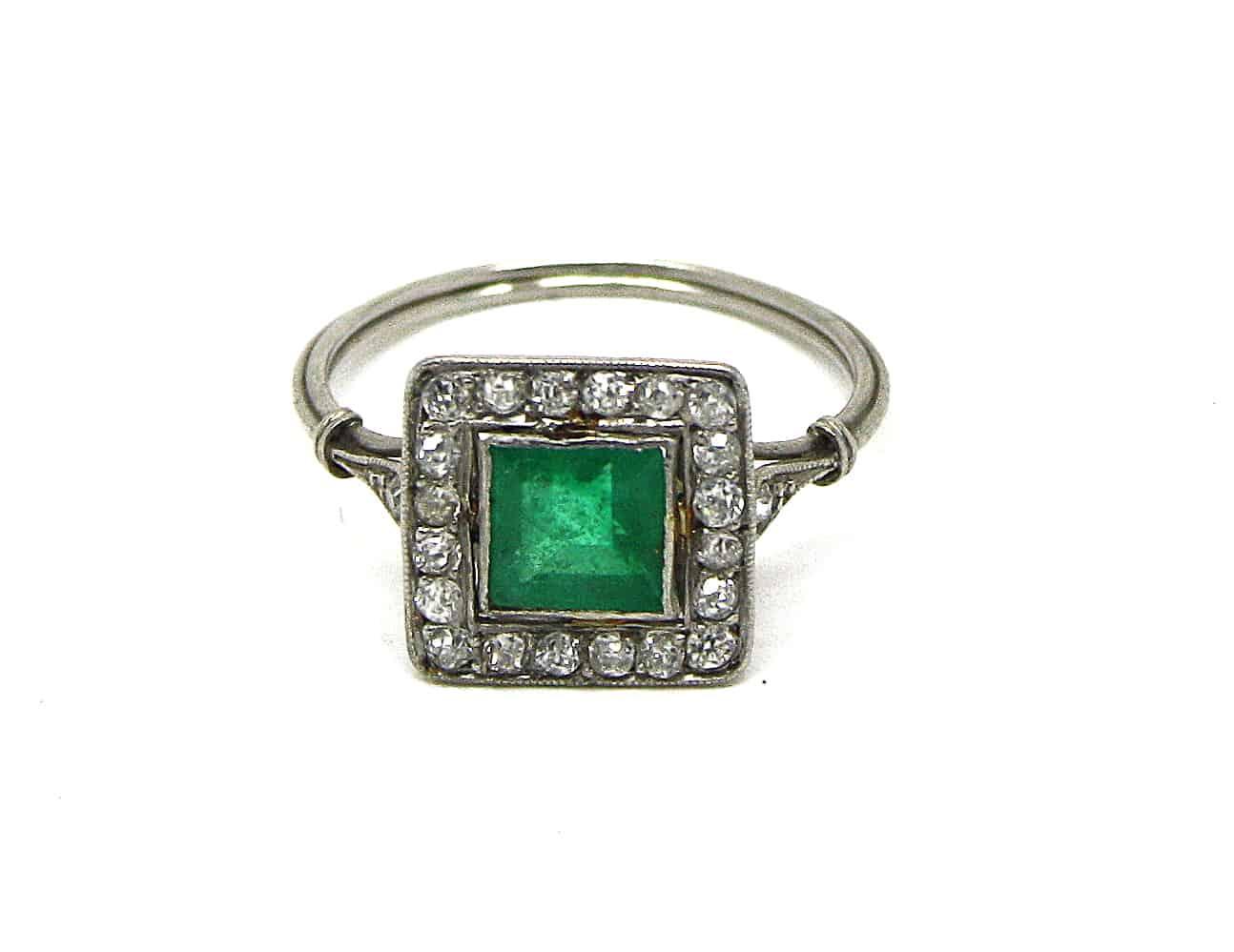 Antique Emerald Ring Kish Jewellers Dublin