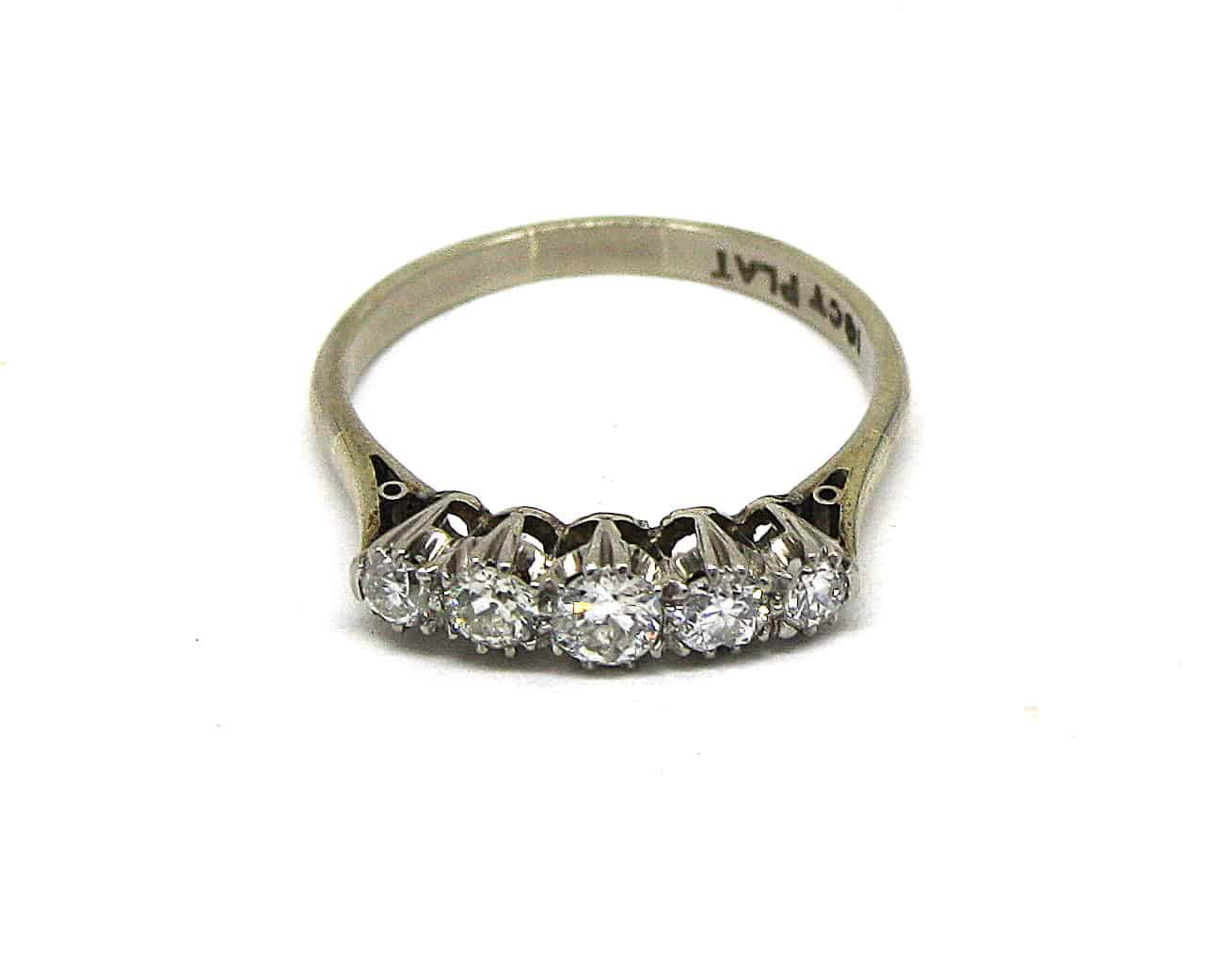 Antique Five Stone Diamond Enagagement Ring Kish